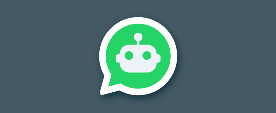 a chatbot inside the WhatsApp logo – header image for blog post on WhatsApp bot