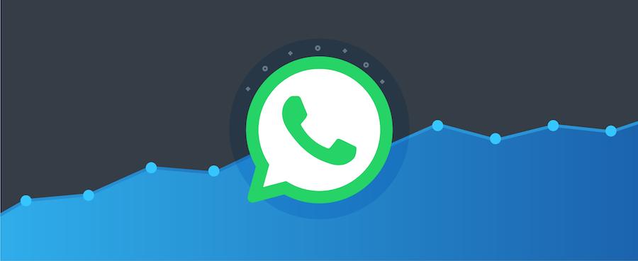 WhatsApp Logo vor Diagramm – Titelbild für Blogbeitrag zu WhatsApp-Nutzerzahlen