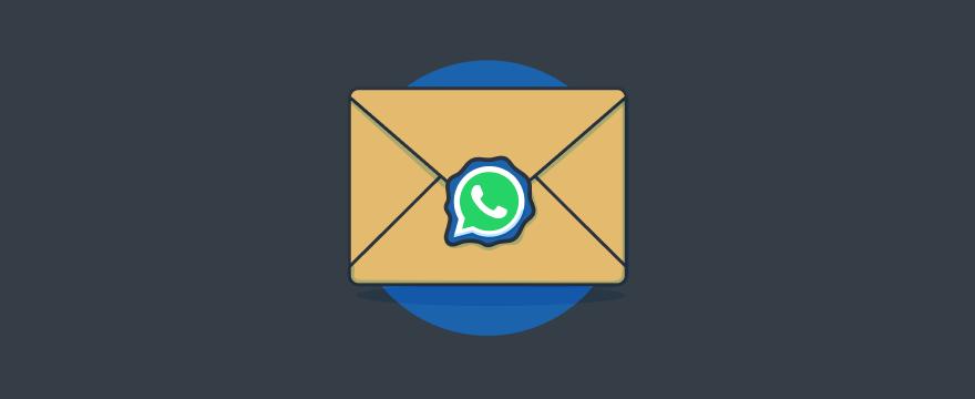 WhatsApp-Logo auf einem Brief – Titelbild für Blogbeitrag zu WhatsApp Business Nachrichtenvorlagen Templates