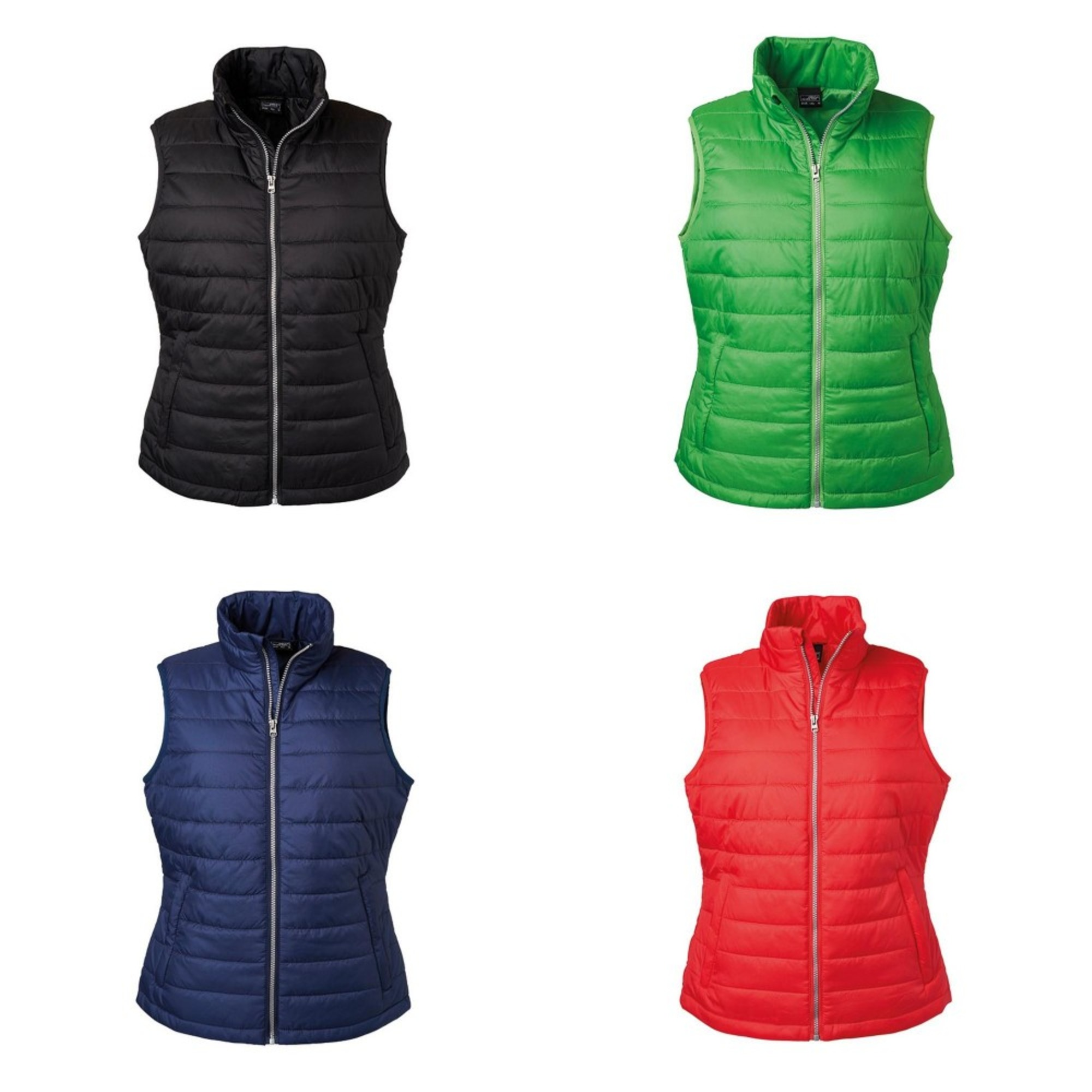 James and Nicholson Womens Ladies Water Repellent Padded Vest (FU461)