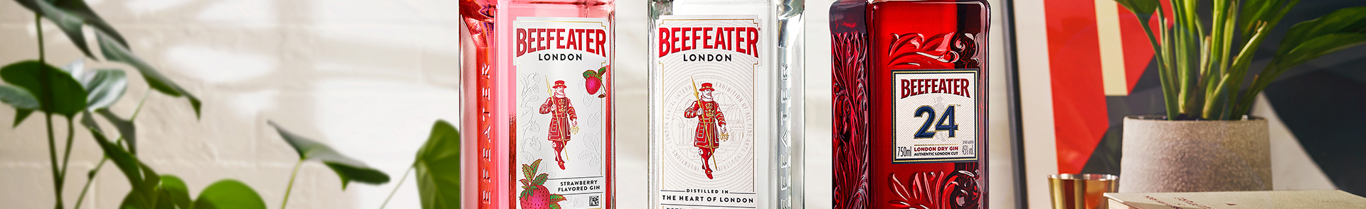 Beefeater Pink, London Dry and Beefeater 24