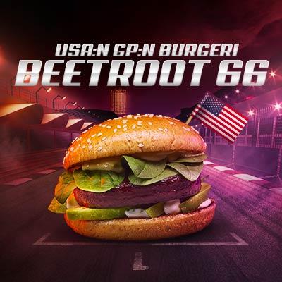 USA:n GP beetroot burger