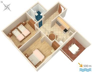 Apartment A-100-a - Apartments and Rooms Stari Grad (Hvar) - 100
