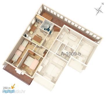 Apartment A-1009-a - Apartments Pisak (Omiš) - 1009