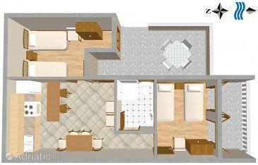 Apartment A-1011-a - Apartments Pisak (Omiš) - 1011