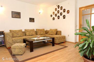 Drače, Living room u smještaju tipa apartment, dostupna klima i WIFI.
