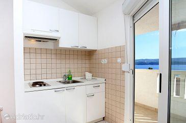 Stanići, Kitchen u smještaju tipa studio-apartment, WIFI.