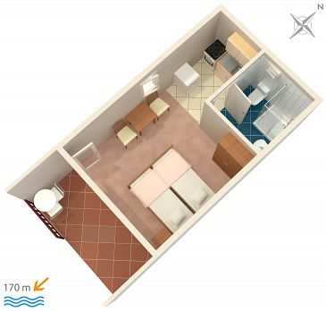 Studio flat AS-1036-a - Apartments Seget Vranjica (Trogir) - 1036