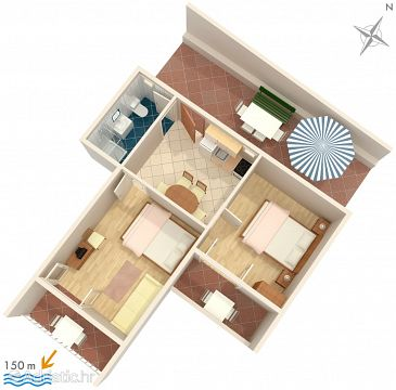 Apartment A-1043-b - Apartments Marušići (Omiš) - 1043