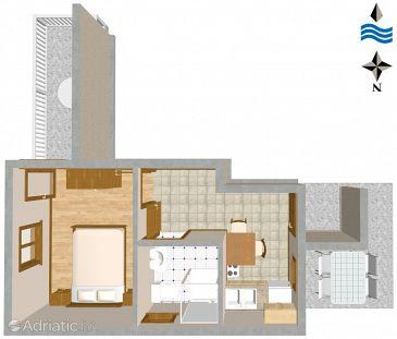 Apartment A-1044-a - Apartments Marušići (Omiš) - 1044
