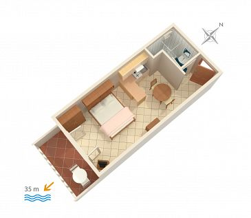 Studio flat AS-1047-c - Apartments Medići (Omiš) - 1047