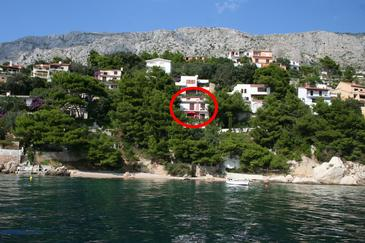 Property Stanići (Omiš) - Accommodation 1049 - Apartments near sea with pebble beach.
