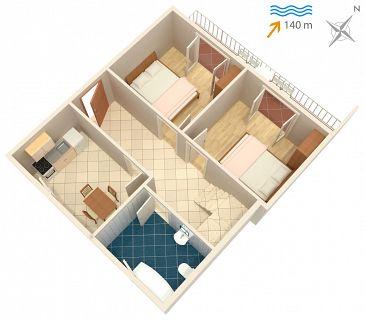Apartment A-1050-b - Apartments Seget Vranjica (Trogir) - 1050