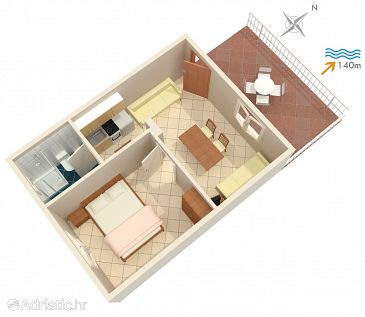 Apartment A-1050-c - Apartments Seget Vranjica (Trogir) - 1050