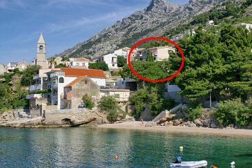 Property Pisak (Omiš) - Accommodation 1067 - Apartments near sea with pebble beach.