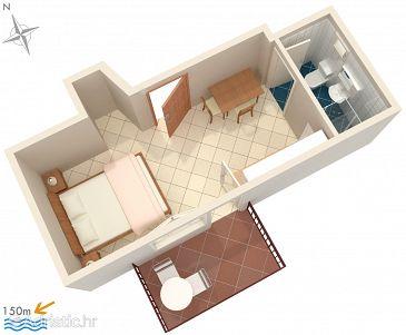 Studio flat AS-1069-a - Apartments Okrug Gornji (Čiovo) - 1069