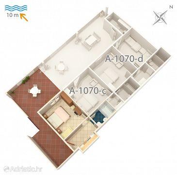 Apartment A-1070-b - Apartments Pisak (Omiš) - 1070