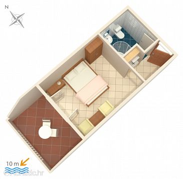 Studio flat AS-1070-b - Apartments Pisak (Omiš) - 1070