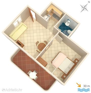 Apartment A-1098-b - Apartments Slatine (Čiovo) - 1098