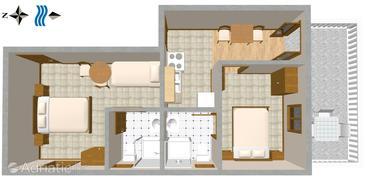 Apartment A-110-a - Apartments Sveta Nedilja (Hvar) - 110
