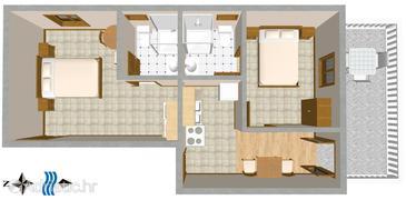 Apartment A-110-b - Apartments Sveta Nedilja (Hvar) - 110