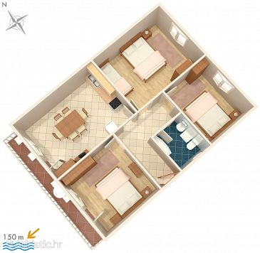 Apartment A-1101-b - Apartments Kanica (Rogoznica) - 1101