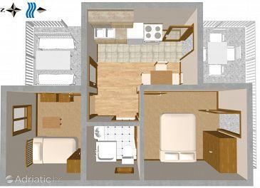 Apartment A-111-c - Apartments Sveta Nedilja (Hvar) - 111
