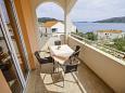 Poljica, Balcony u smještaju tipa apartment, s pogledom na more i WIFI.