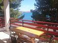 Seline, Terrace u smještaju tipa apartment, s pogledom na more.