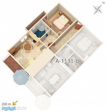 Apartment A-1131-c - Apartments Marušići (Omiš) - 1131