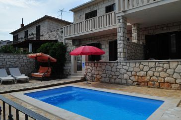Property Supetar (Brač) - Accommodation 11360 - Apartments near sea with pebble beach.
