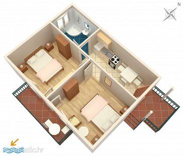 Apartment A-11553-a - Apartments Drvenik Donja vala (Makarska) - 11553
