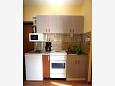 Vodice, Kitchen u smještaju tipa apartment, dostupna klima i WIFI.