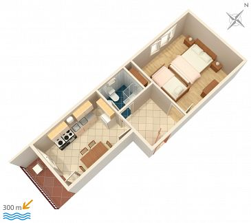 Apartament A-1165-b - Apartamenty Vinišće (Trogir) - 1165
