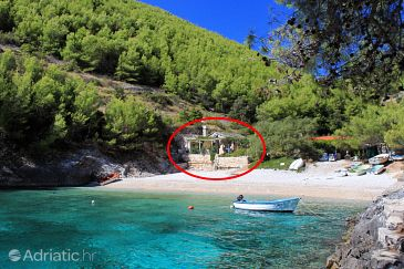 Property Bratinja Luka (Korčula) - Accommodation 11653 - Vacation Rentals near sea with pebble beach.