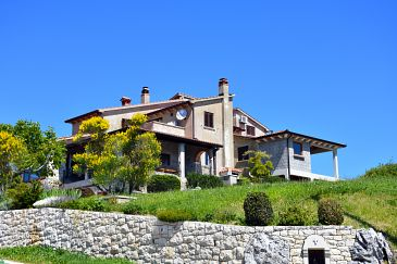 Property Presika (Labin) - Accommodation 11656 - Apartments with pebble beach.