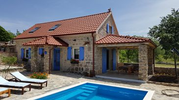 Property Puljane (Krka) - Accommodation 11688 - Vacation Rentals with pebble beach.
