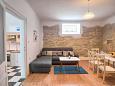 Pula, Living room u smještaju tipa house, dostupna klima, dopusteni kucni ljubimci i WIFI.