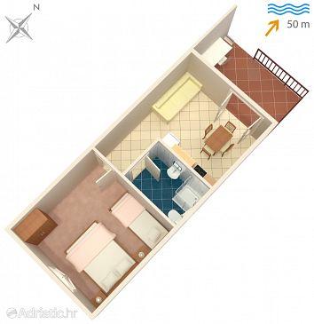 Apartment A-118-c - Apartments Mudri Dolac (Hvar) - 118