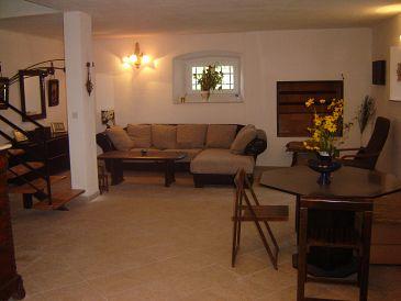 Orebić, Living room u smještaju tipa house, dopusteni kucni ljubimci i WIFI.