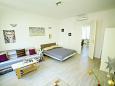 Zagreb, Living room u smještaju tipa apartment, dostupna klima i WIFI.