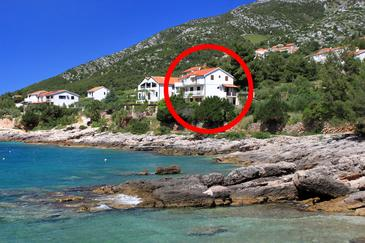 Property Zavala (Hvar) - Accommodation 122 - Apartments near sea with pebble beach.