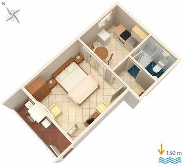 Studio flat AS-141-a - Apartments and Rooms Hvar (Hvar) - 141