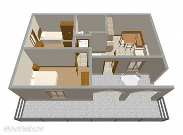 Apartment A-151-a - Apartments Račišće (Korčula) - 151