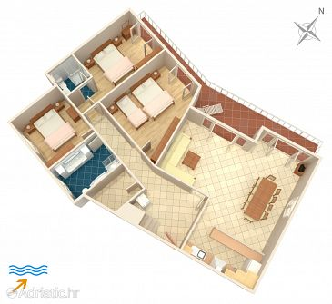 Apartment A-174-e - Apartments Tri Žala (Korčula) - 174
