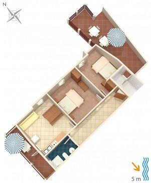 Apartament A-183-b - Apartamenty Zavalatica (Korčula) - 183