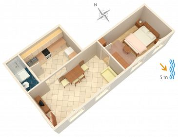 Apartment A-183-f - Apartments Zavalatica (Korčula) - 183