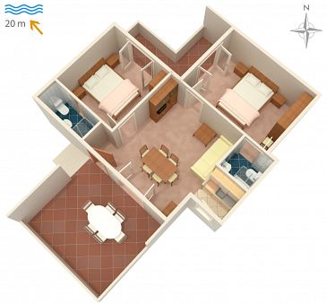 Apartament A-2001-a - Kwatery Supetarska Draga - Donja (Rab) - 2001