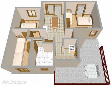 Apartment A-2024-a - Apartments Arbanija (Čiovo) - 2024