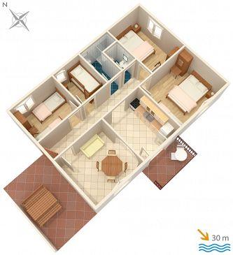 Dom K-2057 - Willa Uvala Tvrdni Dolac (Hvar) - 2057